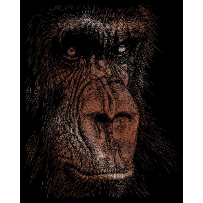 Copper Foil Engraving - Wise Simian