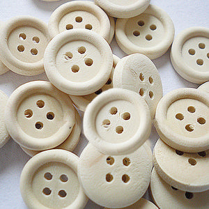 4 Hole Wood Button - 13mm - 100ct.