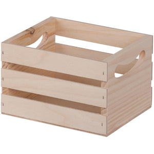 Mini Wooden Crate W/Handles