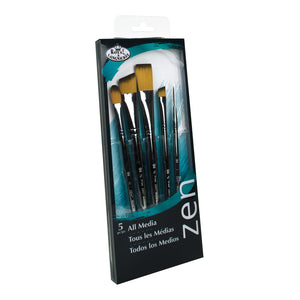 Zen Brush Set - All Media Short Handle Stroke Set