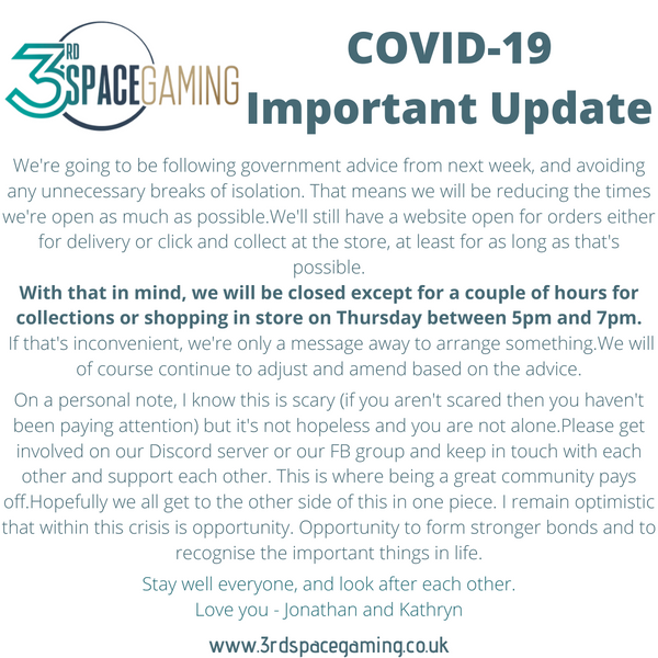 COVID-19 Update Sunday 22nd March