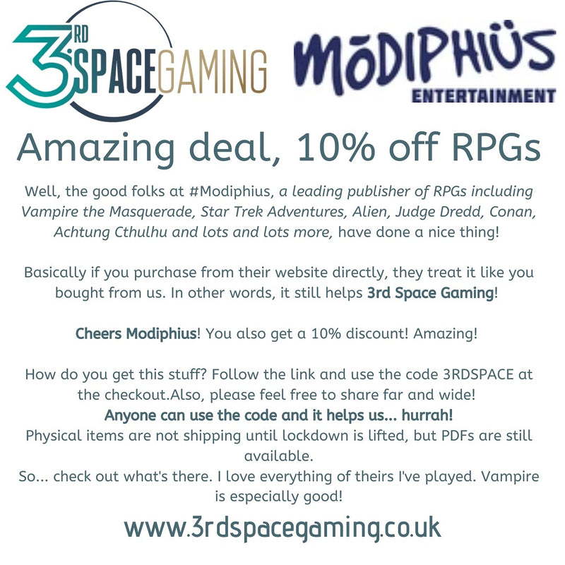 10% off Modiphius RPGs