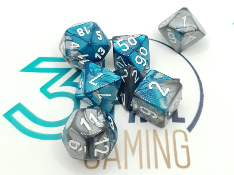 Chessex Gemini Poly 7 Dice Set (Various Colours)