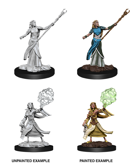 Female Elf Sorcerer: D&D Nolzur's Marvelous Unpainted Miniatures (W12)