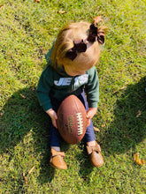 Load image into Gallery viewer, Football Baby Moccasins with Bows