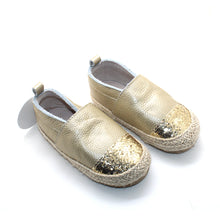 Load image into Gallery viewer, Gold Espadrilles with Glitter