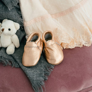 Signature Bare Rose Gold Moccasin