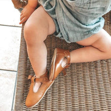 Load image into Gallery viewer, Classic MaryJane T-Bar Cognac Moccasin