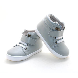 Leather High Top Gray Sneakers