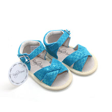 Load image into Gallery viewer, Mermaid Blue Sandals Open Toe