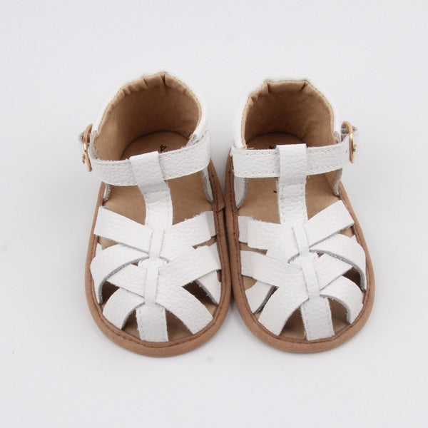 No Peak White Sandals