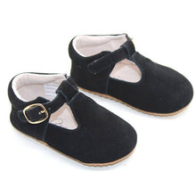 Load image into Gallery viewer, Classic MaryJane Black Suede T-Bar Moccasins