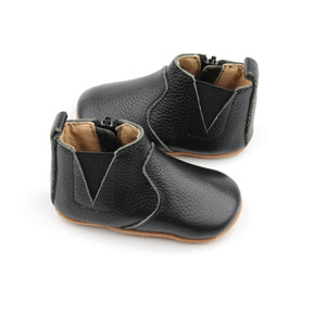Chelsea Black Moccasin Boot