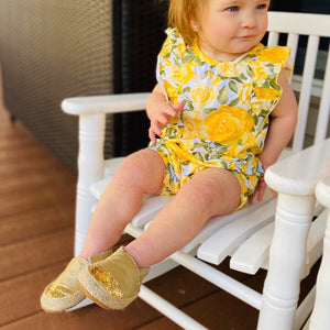 Gold Espadrilles with Glitter