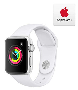 Apple Watch Series 3 (GPS, 38mm) - Silver Aluminum Case with White Sport Band with AppleCare+ Bundle - BIZARRE PRINTS