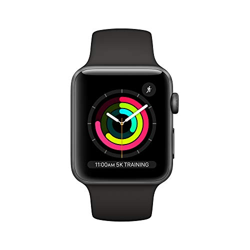 Apple Watch Series 3 (GPS, 42mm) - Space Gray Aluminum Case with Black Sport Band - BIZARRE PRINTS