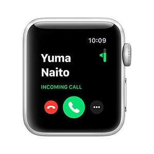 Apple Watch Series 3 (GPS, 38mm) - Silver Aluminum Case with White Sport Band - BIZARRE PRINTS