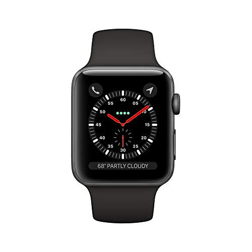 Apple Watch Series 3 (GPS + Cellular, 42mm) - Space Gray Aluminum Case with Black Sport Band - BIZARRE PRINTS