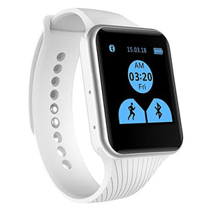 EFOSHM X15 Smart Watch,Bluetooth Watch Phone Mate for iOS Apple iPhone and Android Sumsung HTC Symbian BlackBerry Windows Smartphones. Big Advantage- Don't Need Install APP. (White) - BIZARRE PRINTS