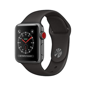 Apple Watch Series 3 (GPS + Cellular, 38mm) - Space Gray Aluminum Case with Black Sport Band - BIZARRE PRINTS