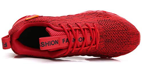 TSIODFO Men Sport Trail Running Shoes mesh Breathable Comfort Blade Athletic Walking Shoes Man Gym Workout Blade Tennis Sneakers Red Size 8.5 - BIZARRE PRINTS
