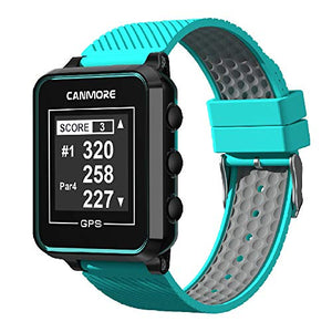 CANMORE TW-353 GPS Golf Watch - Essential Golf Course Data and Score Sheet - Minimalist & User Friendly - 38,000+ Free Courses Worldwide - 4ATM Waterproof - 1-Year Warranty - Turquoise