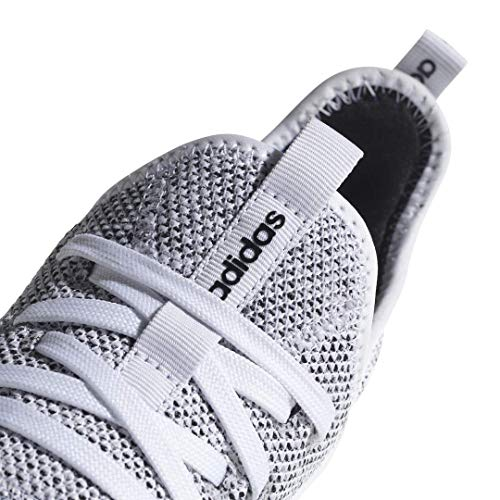 adidas Women's Cloudfoam Pure Running Shoe, white/white/black, 9 Medium US - BIZARRE PRINTS