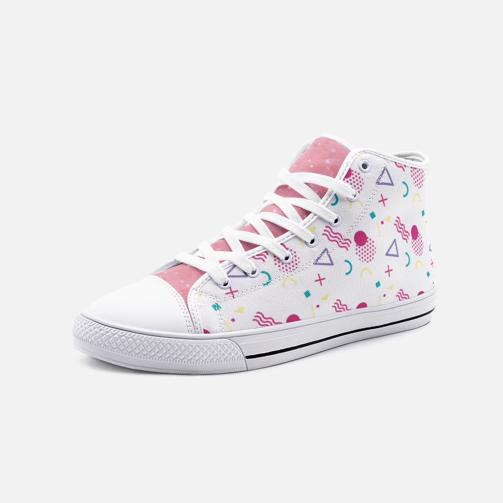 Multi-color Unisex High Top Canvas Shoes - BIZARRE PRINTS