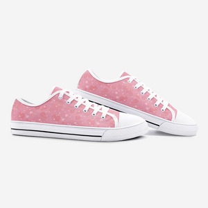 Pink Unisex Low Top Canvas Shoes - BIZARRE PRINTS