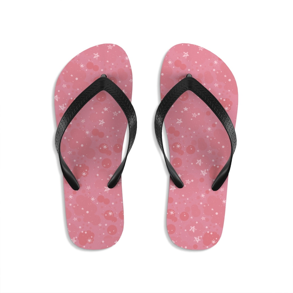 stars and pinky_Unisex Flip-Flops - BIZARRE PRINTS