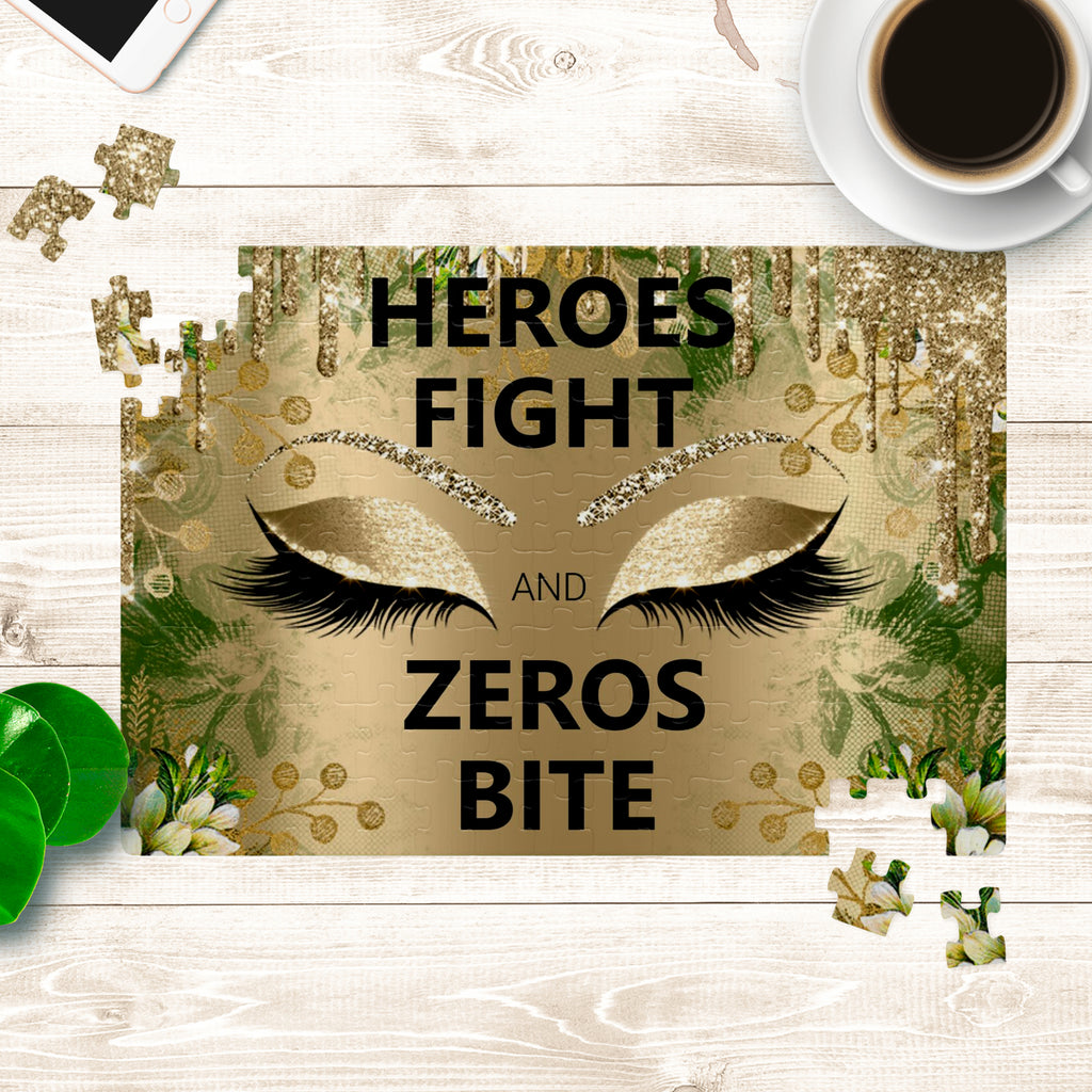 HEROES FIGHT AND ZEROS BITE_puzzle - BIZARRE PRINTS