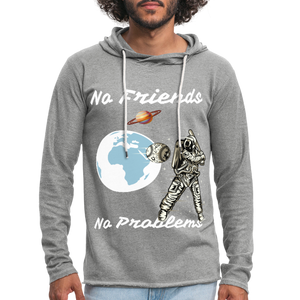 No Friends No Problems Unisex Lightweight Terry Hoodie - BIZARRE PRINTS