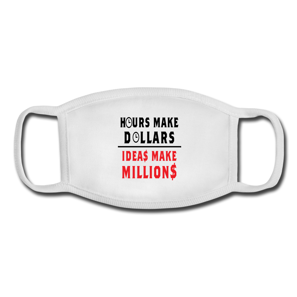 HOURS MAKE DOLLARS IDEAS MAKE MILLIONS Youth Face Mask - BIZARRE PRINTS