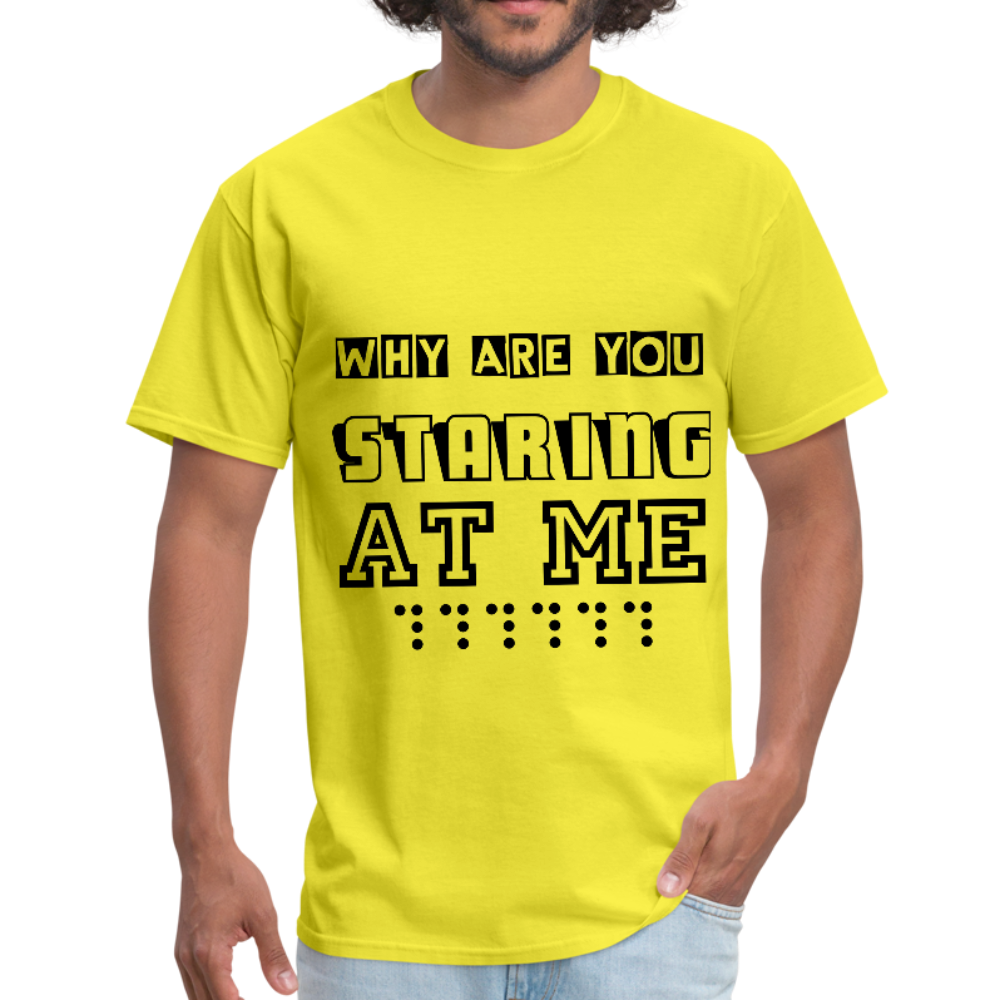 Why are you staring at me Unisex T-Shirt - BIZARRE PRINTS