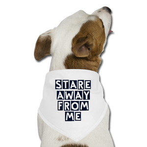 Stare away from me_Dog Bandana - BIZARRE PRINTS