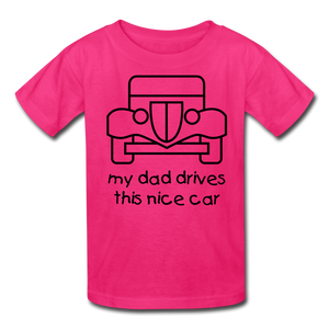 my dad drives this nice car_Kids' T-Shirt - BIZARRE PRINTS