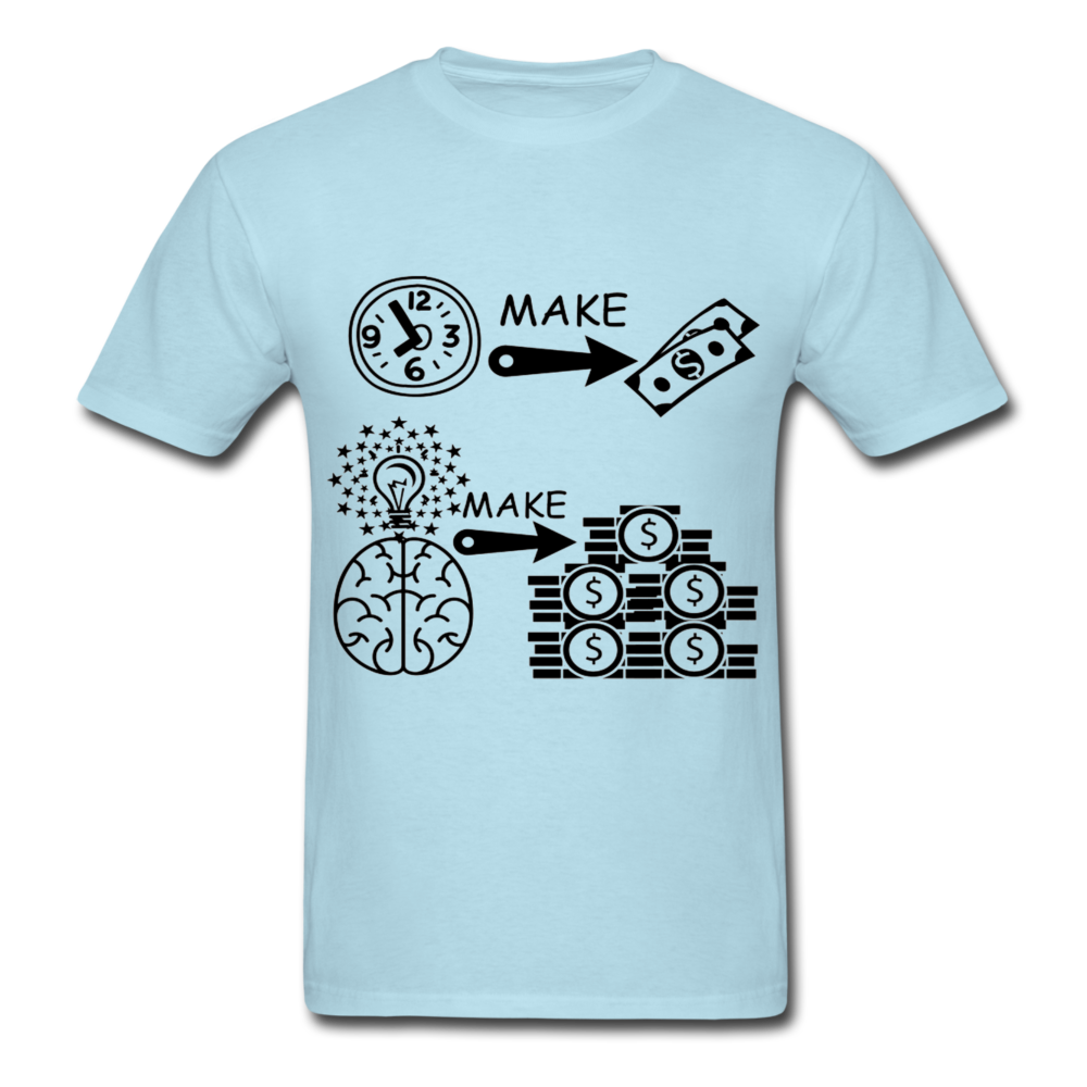 Hours make dollars ideas make millions_Unisex Classic T-Shirt - BIZARRE PRINTS