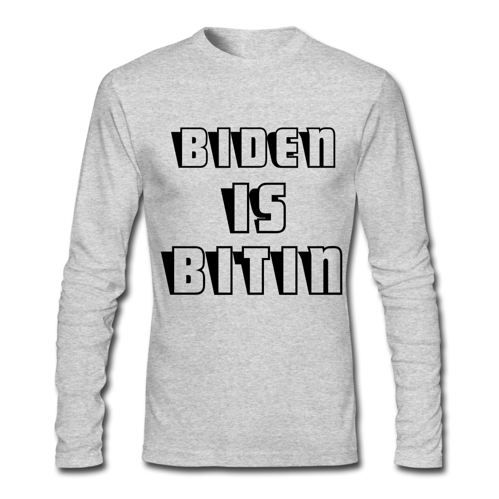 BIDEN IS BITIN_Unisex Long Sleeve T-Shirt - BIZARRE PRINTS