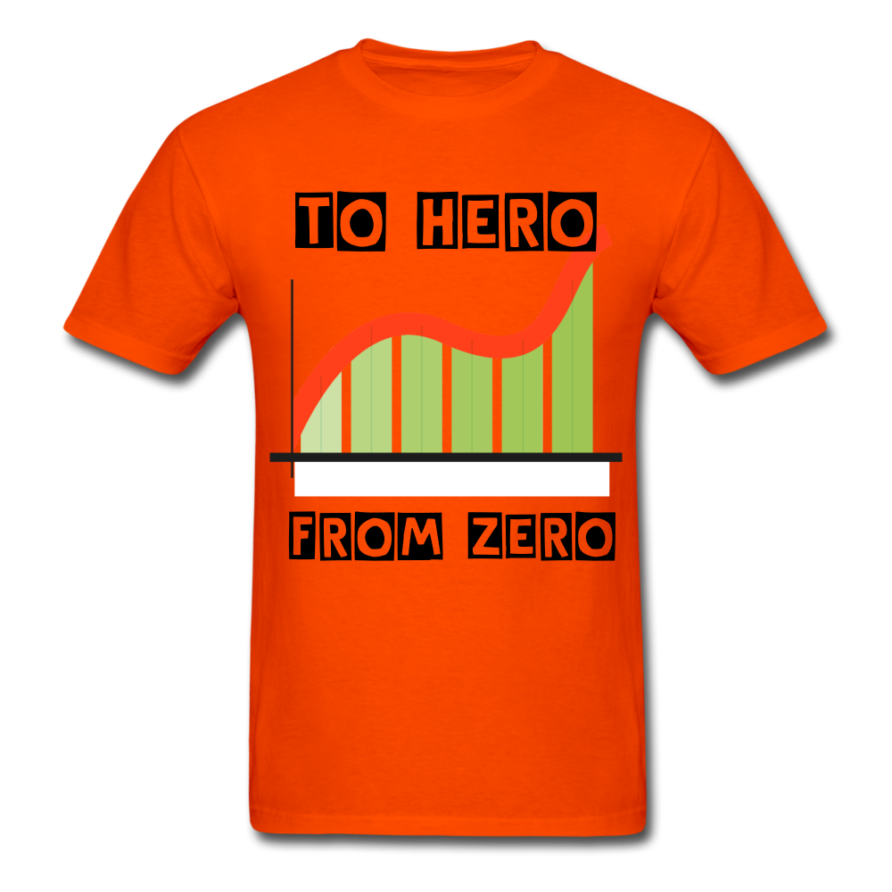 From Zero to Hero unisex Classic T-Shirt - orange