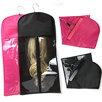 Wigs & Extensions Storage Bag with Hanger
