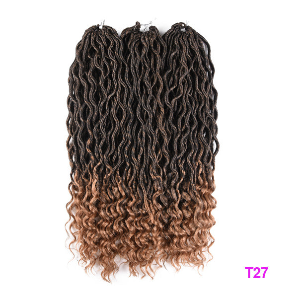 Bohemian Faux Locs Curly Crochet Braids
