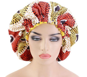African Print Hair Bonnet
