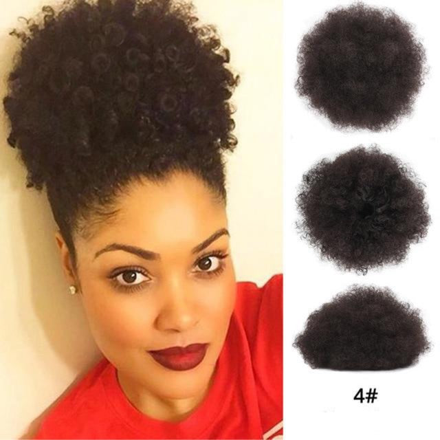 Synthetic Afro Curly Bun