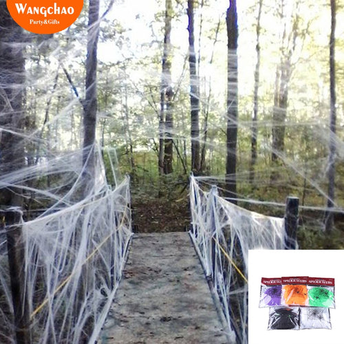 20g/Bag Halloween decora o Spider Web Scary Party Scene Props White Stretchy Cobweb Horror house home Decoration accessories
