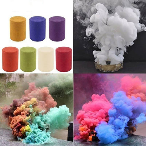 Colorful Smoke Fog Cake Smoke Effect Show Round Bomb Photography Aid DIY Toy Gifts Birthday Party Halloween supplies