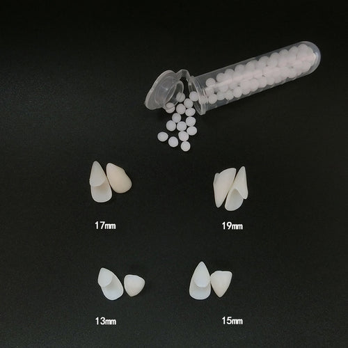 1 Pairs Vampire Teeth Fangs Dentures Props Halloween Costume Props False Teeth Solid Glue Denture Adhesive Party DIY Decorations
