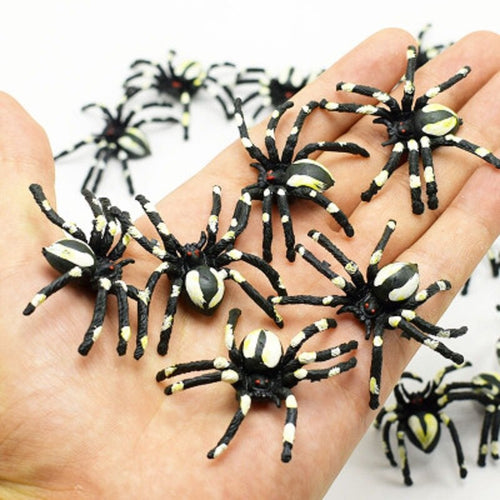10pcs Prank Lifelike Spider Centipede Scorpion Simulation Fake Cockroach Funny Trick Toys for  Halloween Party House Decor