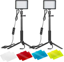 Load image into Gallery viewer, Neewer 5600k Dimmer USB lights 10w x2