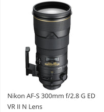 Load image into Gallery viewer, Nikon AF-S 300mm f/2.8 G ED VR II N Lens
