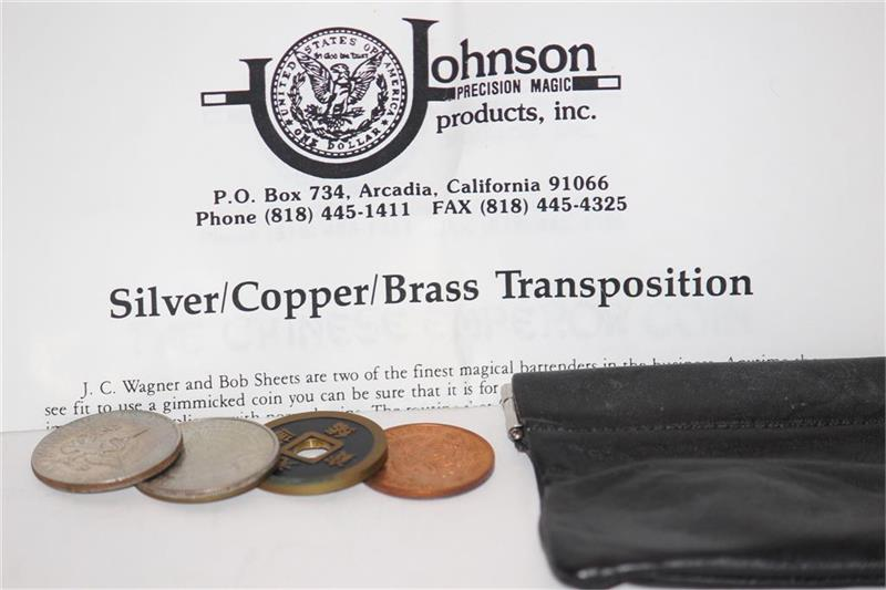 Silver Copper Brass Transposition by Johnson Magic - Trick